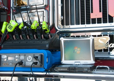 The CORE 1k as we know it today, here shown charging radios for a local fire brigade.