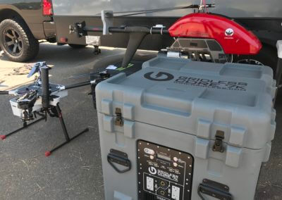 Power drones and other cutting-edge safety equipment